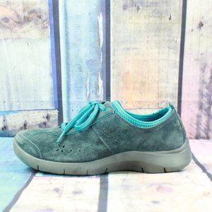 Dansko Blue Suede Sneaker Walking Shoes Size 7